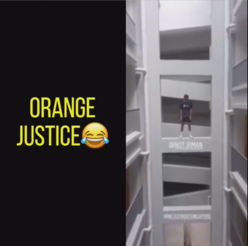 Fastest Electric Bike >> Boy doing Orange Justice dance on parapet, play too much ...