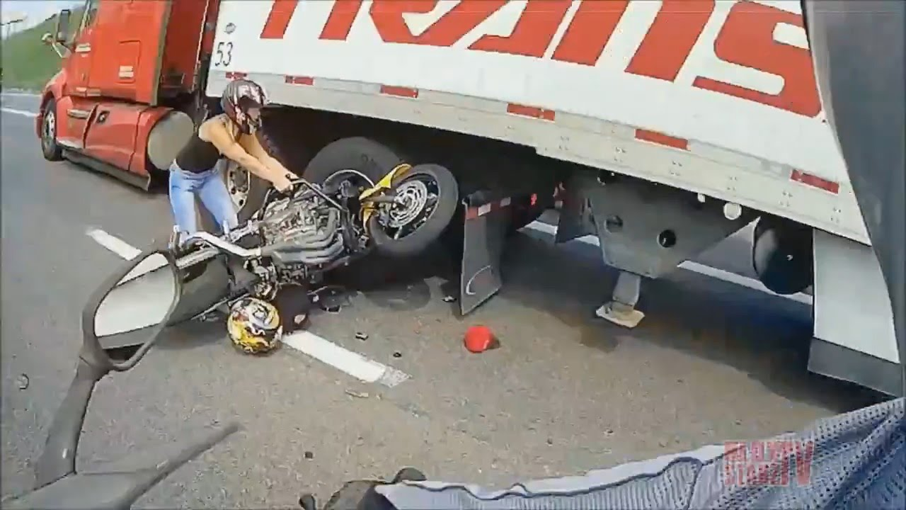 Man On Motorcycle Gets Hit By Car