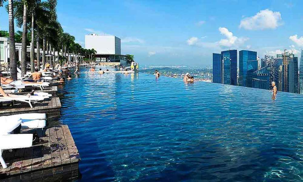 4 women molested under 30 minutes at marina bay sands - Rooftop swimming pool in singapore ...
